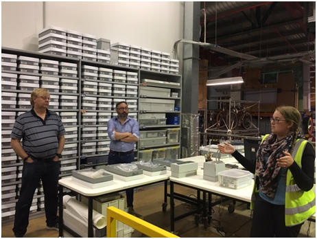 Research Assistant Bronwyn Woff explaining the Historical Archaeology Collection