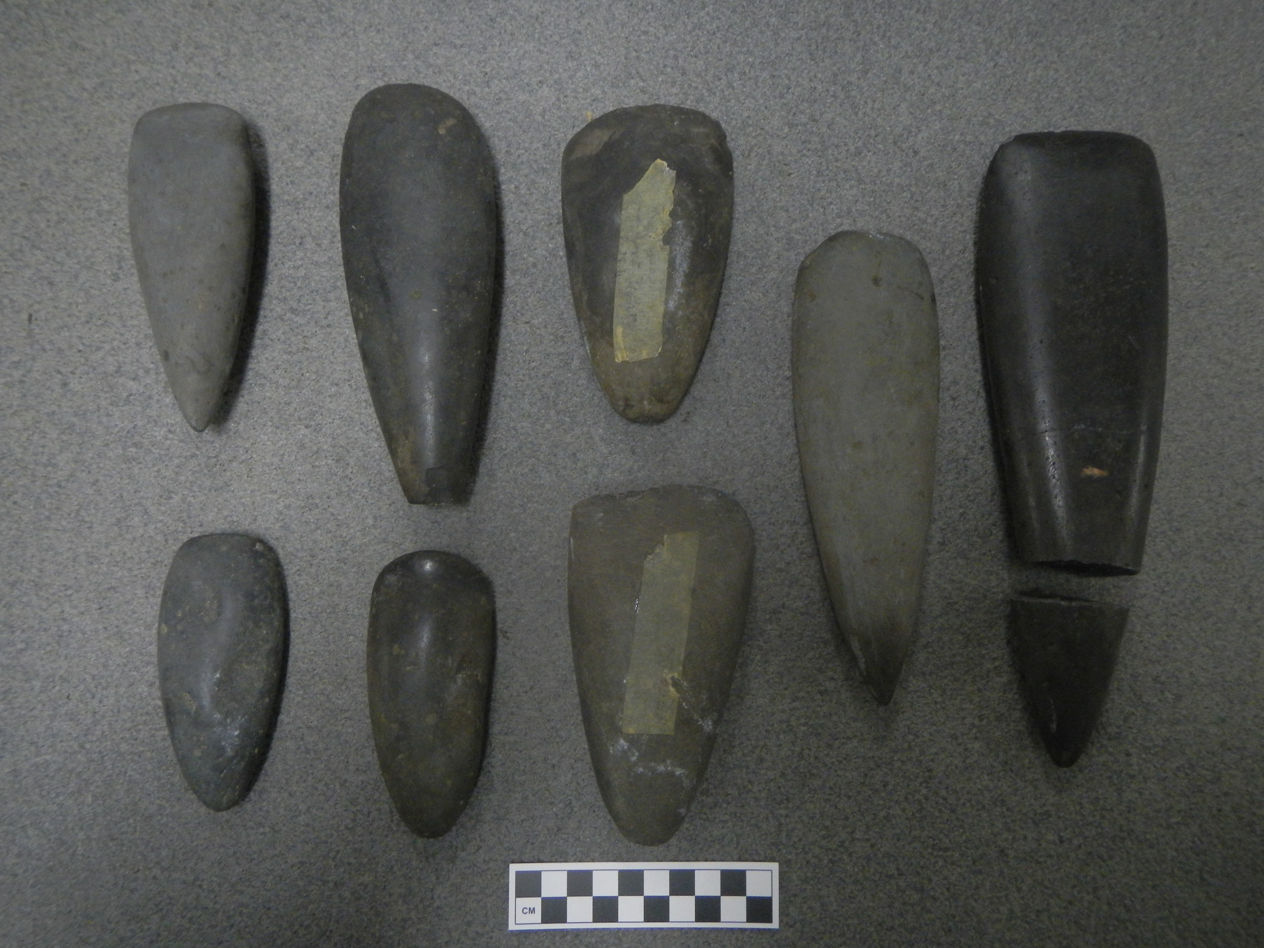 Adze Blades from Southern Vanuatu, Geddie/Robertson Collection, Nova Scotia Museum (Courtesy of J. Flexner)
