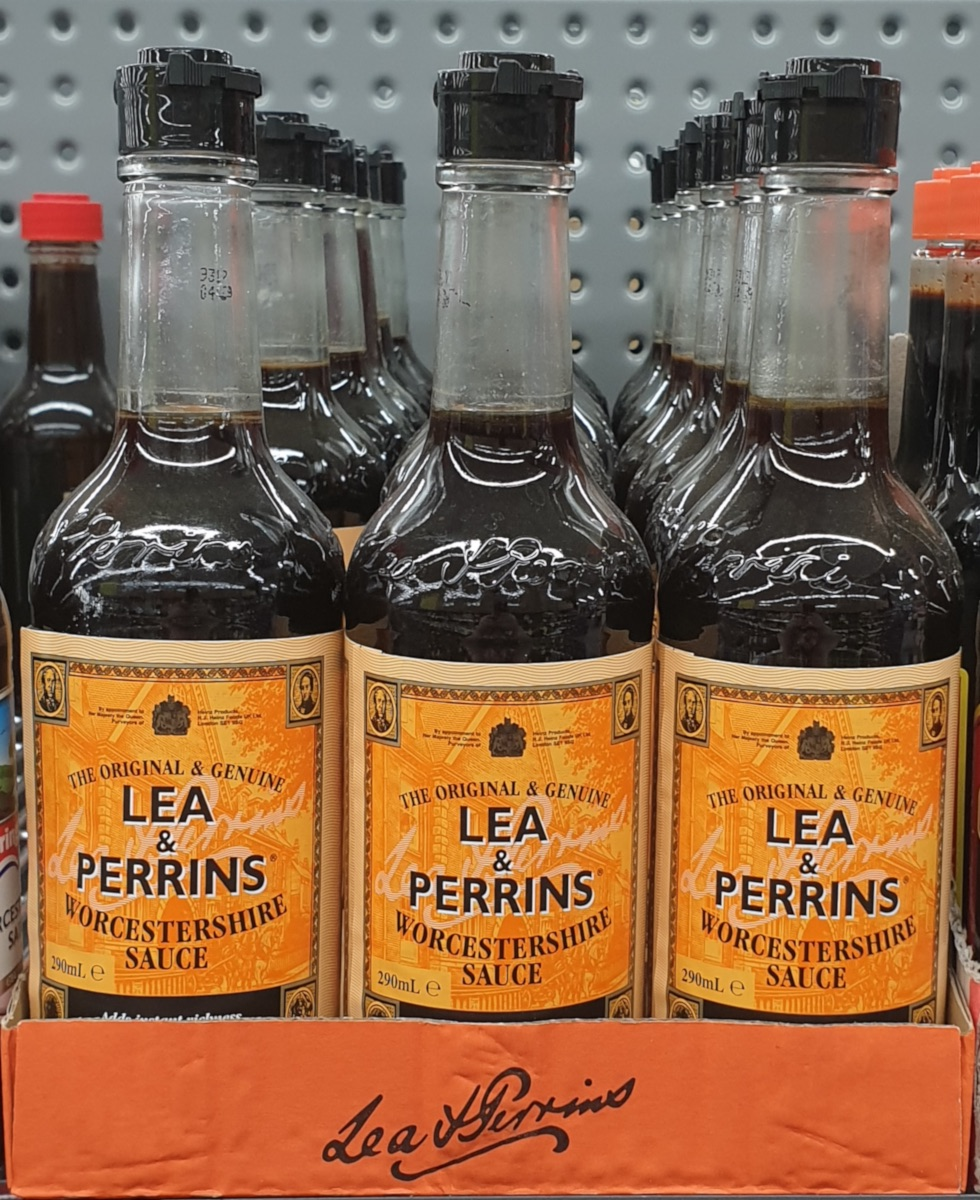 IMAGE 4 – lea & perrins' worcestershire sauce available to purchase in an armidale supermarket, march 2020 (d.j. leahy).
